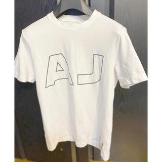 アルマーニジーンズ(ARMANI JEANS)のARMANI JEANSアルマーニTシャツ半袖ホワイト夏ロゴ(Tシャツ/カットソー(半袖/袖なし))