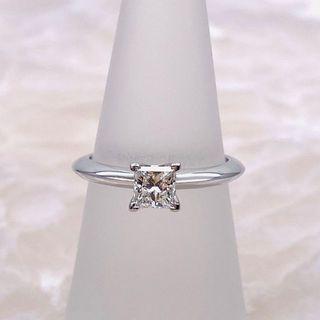 ティファニー(Tiffany & Co.)のティファニー プリンセスカット ダイヤモンド 婚約指輪 PT950  (リング(指輪))