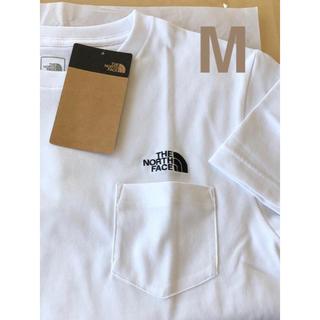 THE NORTH FACE - 【 M 】ホワイト★ シンプルロゴ ポケット Tシャツ★ ノースフェイス