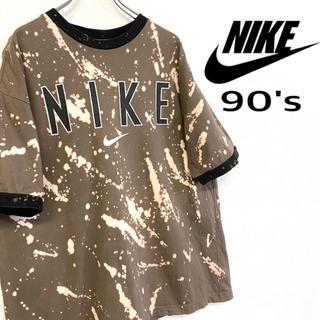 ナイキ(NIKE)の美品 リメイク古着 90's NIKE デカロゴ Tシャツ(Tシャツ/カットソー(半袖/袖なし))
