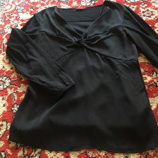 アマカ(AMACA)のAMACA 黒 カットソー 40(カットソー(長袖/七分))
