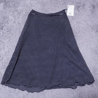 セオリーリュクス(Theory luxe)の定価1.2万 未使用タグ付き schambasic シフォンドットロングスカート(ひざ丈スカート)