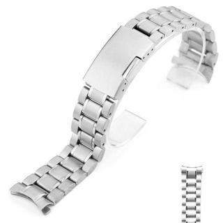 弓カン 腕時計 バンド 交換ベルト ステンレス製 ストラップ 22mm(金属ベルト)