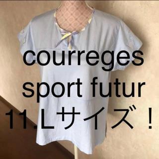 クレージュ(Courreges)の☆courreges/クレージュ☆大きいサイズ!半袖ドッキングカットソー11.L(カットソー(半袖/袖なし))