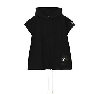 ネネット(Ne-net)のにゃーとチャンピオンのノースリフードT グレーとブラック(カットソー(半袖/袖なし))