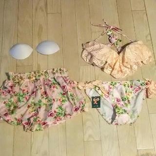 axes femme - 【期間限定価格】可憐なビキニ水着/薔薇とレースとリボン🎀/set4点/L/新品