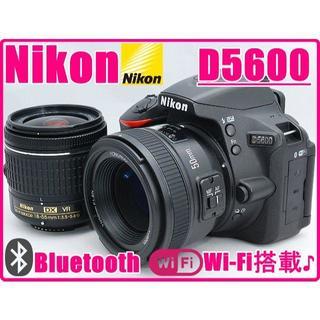 ニコン(Nikon)のNIKON ニコン D5600 単焦点&標準レンズセット Wi-Fi搭載機種♪(デジタル一眼)