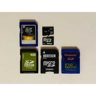 SDカード SDHCカード microSDカード 5枚セット アダプター付き(その他)