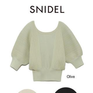 snidel - SNIDEL スナイデル ハーフスリーブドルマンニットプルオーバー オリーブ