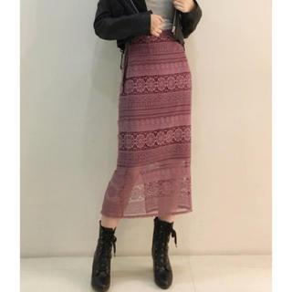 スナイデル(snidel)のSNIDEL オリジナルレースタイトスカート(ロングスカート)