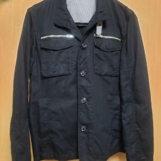コムサイズム(COMME CA ISM)のコムサ リネン ジャケット Mサイズ カバーオール(カバーオール)