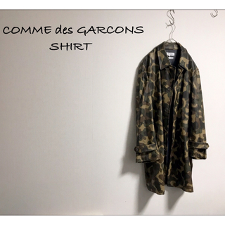 コムデギャルソン(COMME des GARCONS)の古着 COMME des GARCONS ギャルソン 迷彩 オーバーコート (ステンカラーコート)