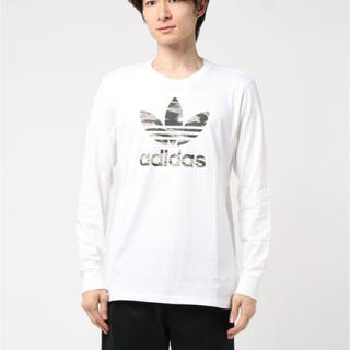 アディダス(adidas)の新品 アディダスオリジナルス トレフォイルロゴ 長袖Tシャツ Lサイズ(Tシャツ/カットソー(七分/長袖))