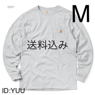 カーハート(carhartt)の【M】CARHARTT カーハート K126 ポケット ロンT グレー(Tシャツ/カットソー(七分/長袖))