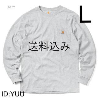 カーハート(carhartt)の【L】CARHARTT カーハート K126 ポケット ロンT グレー(Tシャツ/カットソー(七分/長袖))