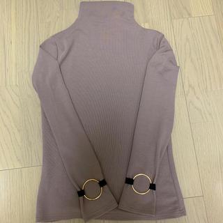 ザラ(ZARA)のボトルネック  ゴールドリング リブカットソー(Tシャツ(長袖/七分))