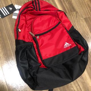 アディダス(adidas)のadidas 赤色 リュックサック【新品未使用品】(リュック/バックパック)