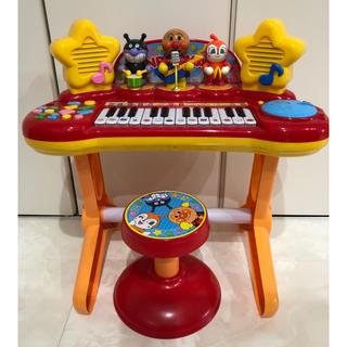 アンパンマン(アンパンマン)の引取り アンパンマン ミュージックショー ピアノ スタンドマイク無椅子付きセット(楽器のおもちゃ)