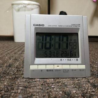 カシオ(CASIO)のカシオ 電波目覚まし時計  WAVE CEPTOR/DQD-700J(置時計)