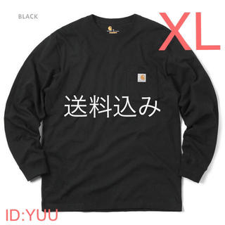 カーハート(carhartt)の【XL】CARHARTT カーハート K126 ポケット ロンT 黒(Tシャツ/カットソー(七分/長袖))