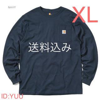 カーハート(carhartt)の【XL】CARHARTT カーハート K126 ポケット ロンT ネイビー(Tシャツ/カットソー(七分/長袖))