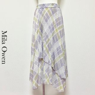 ミラオーウェン(Mila Owen)のMila Owen ミラ オーウェン レイヤードロングプリーツスカート(ロングスカート)