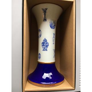 深川製磁 ブルーチャイナ フラワーベース(花瓶)