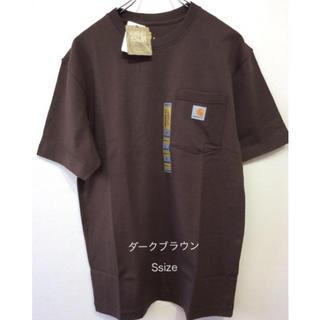カーハート(carhartt)のカーハート tシャツ K87 ダークブラウン S(Tシャツ/カットソー(半袖/袖なし))
