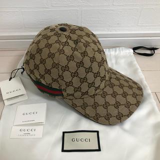 Gucci - 【新品未使用】L59 グッチ GG ベースボール キャップ ベージュ