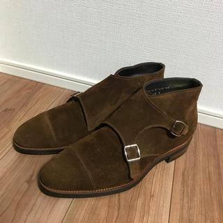 サンヨウヤマチョウ(SANYO YAMACHO)の三陽山長 長四郎 ブーツ スエード ダブルモンク サイズ:9 ブラウン(ドレス/ビジネス)