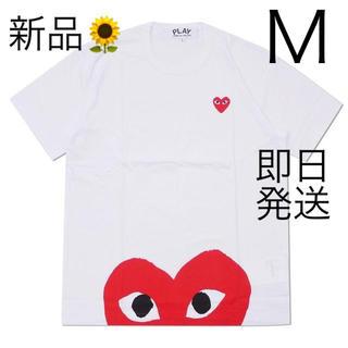COMME des GARCONS - 入手困難 Mサイズ プレイコムデギャルソン Tシャツ 国内正規品 ホワイト