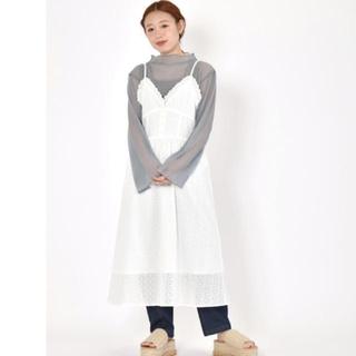 ダブルクローゼット(w closet)の刺繍キャミワンピース(ロングワンピース/マキシワンピース)