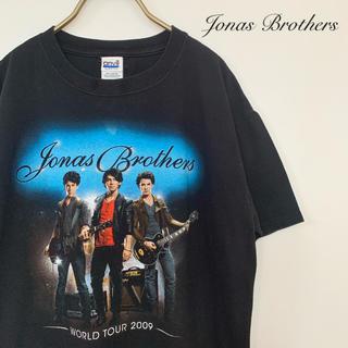 アンビル(Anvil)の【Jonas Brothers】古着 ツアーTシャツ バンドTシャツ M 黒(Tシャツ/カットソー(半袖/袖なし))