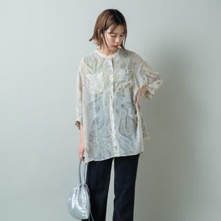 Kastane - kastane マーブル柄シアーBIGシャツ
