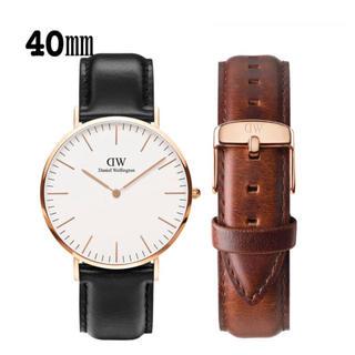ダニエルウェリントン(Daniel Wellington)の【40㎜】ダニエル ウェリントン腕時計DW007+ベルトSET《3年保証書付》(腕時計)