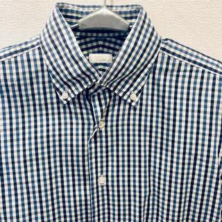 エディフィス(EDIFICE)のエディフィス EDIFICE ブロックチェックシャツ 39(シャツ)