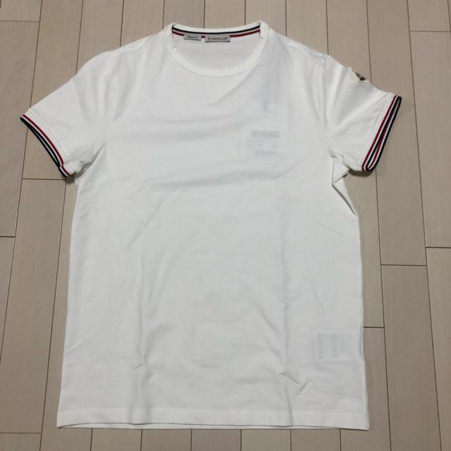 MONCLER(モンクレール)の【tsu-様専用】M モンクレール トリコロール ロゴ付き ワッペン Tシャツ メンズのトップス(Tシャツ/カットソー(半袖/袖なし))の商品写真