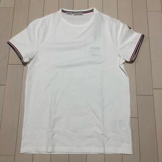 モンクレール(MONCLER)の【tsu-様専用】M モンクレール トリコロール ロゴ付き ワッペン Tシャツ(Tシャツ/カットソー(半袖/袖なし))
