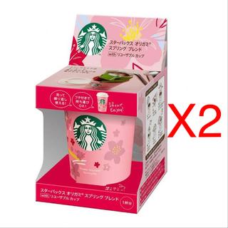 スターバックスコーヒー(Starbucks Coffee)の10個 ✩未開封✩ スタバ オリガミ スプリングブレンド + リユーザブルカップ(コーヒー)