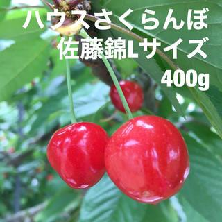 【ハウスさくらんぼ400g(200g×2パック)佐藤錦 Lサイズ(フルーツ)