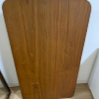 ほぼ未使用・お得✨ JADE 折り畳みテーブル ウォールナット(ローテーブル)