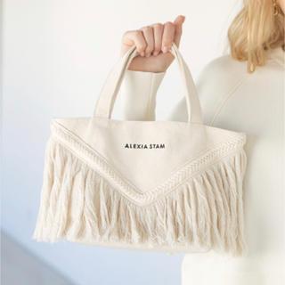 ALEXIA STAM - V Long Fringe Small Tote Bag