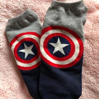 マーベル(MARVEL)のキャプテンアメリカ メンズ 靴下(ソックス)