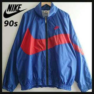 ナイキ(NIKE)の962【90年代製】NIKE BIGSWOOSH ナイロンジャケット アノラック(ナイロンジャケット)