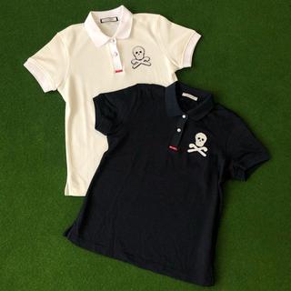 マークアンドロナ(MARK&LONA)のマークアンドロナポロシャツ美品/ホワイト(ウエア)