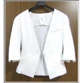 アンタイトル(UNTITLED)のANT 美品 白 ホワイト サマー 春 夏 ジャケット 0531(ノーカラージャケット)