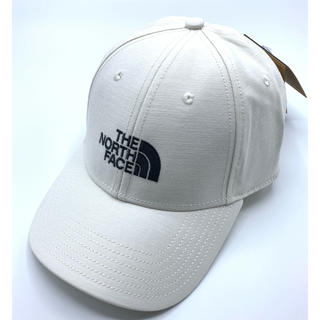 THE NORTH FACE - 【新品】THE NORTH FACE キャップ ホワイト ロゴ入り