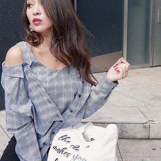 rienda - リエンダ チェックシャツ
