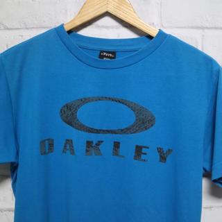 オークリー(Oakley)の【オークリー】半袖Tシャツ M ブルー ビッグロゴ(Tシャツ/カットソー(半袖/袖なし))