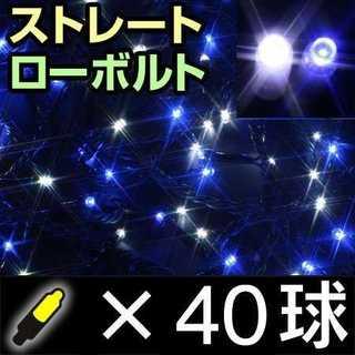 タカショー イルミネーション ストレート 40球 ホワイト&ブルー(その他)